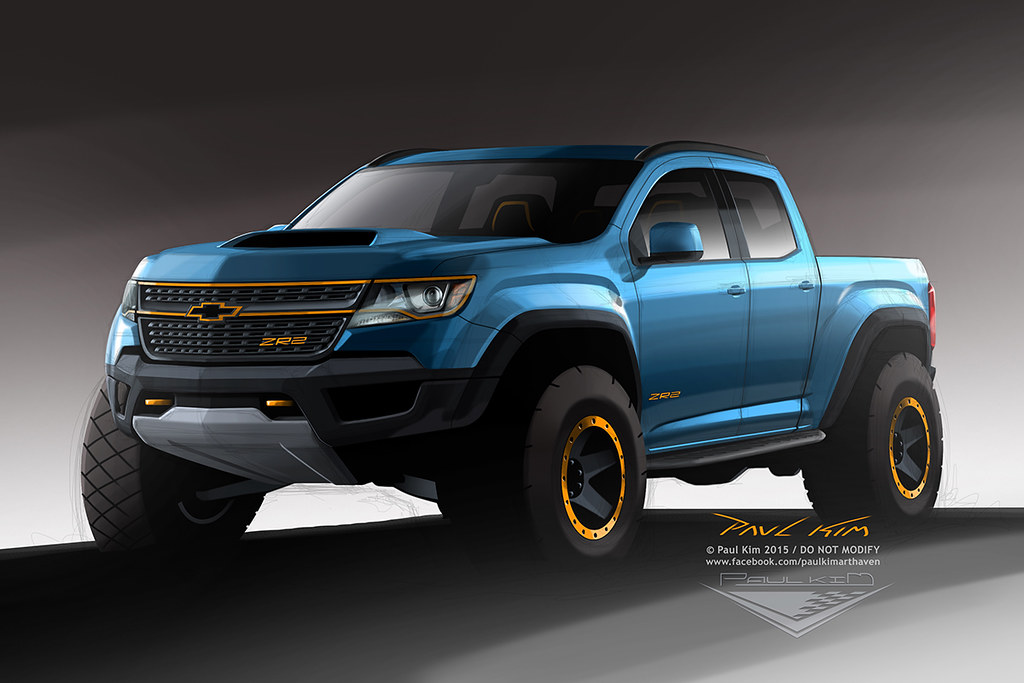 Future Car Wallpaper Minimal Chevrolet Colorado Zr2 Concept Design
