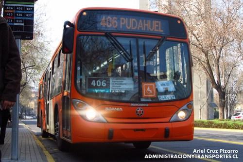 Transantiago - Express de Santiago Uno - Marcopolo Gran Viale / Scania (CJRV57)