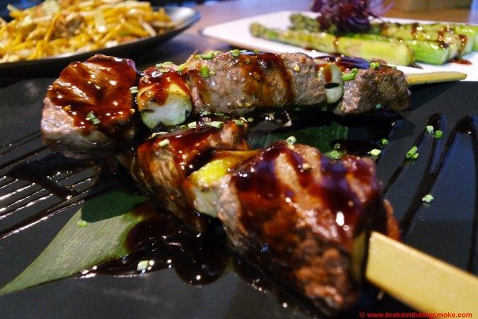 Chi Kitchen wagyu beef skewers