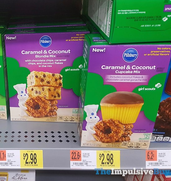 Pillsbury Girl Scouts Caramel & Coconut Blondie Mix and Cupcake Mix