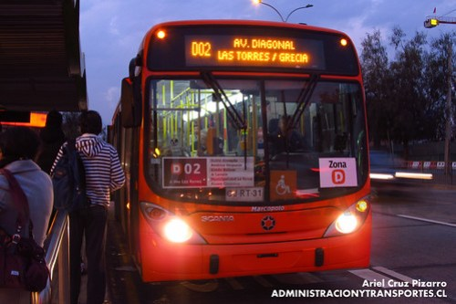 Transantiago - Express de Santiago Uno - Marcopolo Gran Viale / Scania (CJRT31)