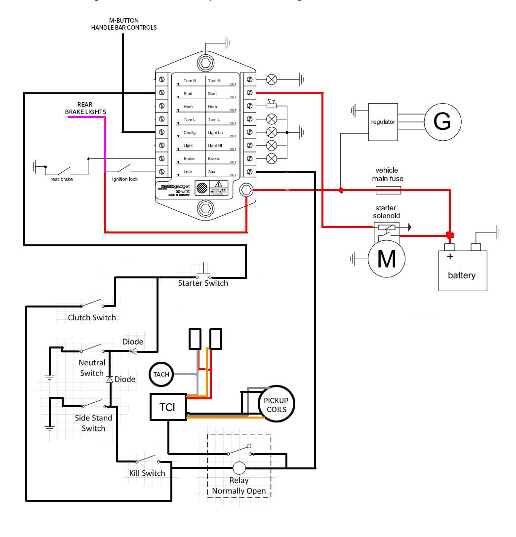 Yamaha Motorcycle Xj Wiring Diagram Auto Electrical
