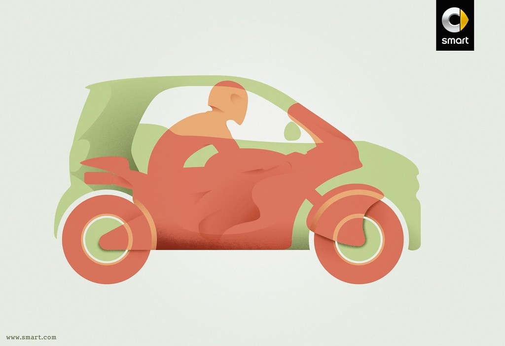 Smart - All the benefits of a motorbike in a car 2