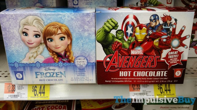 Disney Frozen and Marvel Avengers Hot Chocolate K-Cups