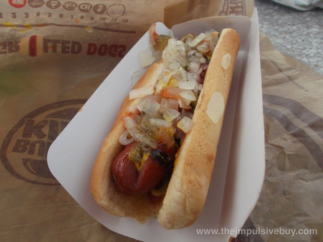 Burger King Grilled Dog Classic