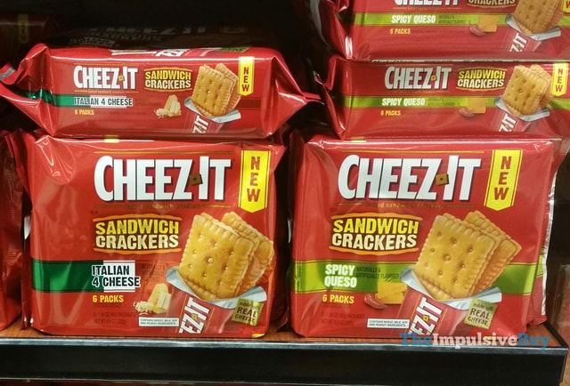 Cheez-It Sandwich Crackers (Italian 4 Cheese and Spicy Queso)