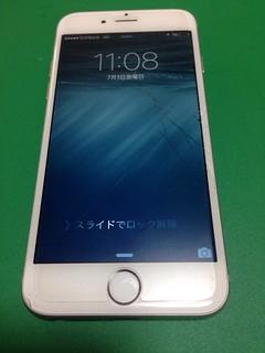 117_iPhone6のフロントパネルガラス割れ&ドックコネクター交換