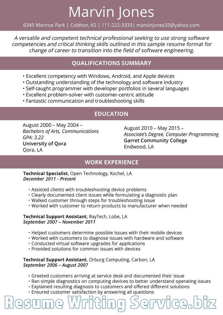 Career Change Resume Format 2019 Career change resume form\u2026 Flickr