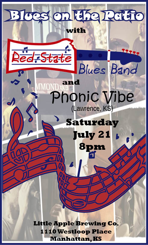 sonic vibe red state blues band little apple brewing co.