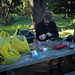 Breakfast at Stillwater Cove campground