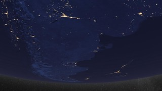 Earth at Night, South America [hd video]