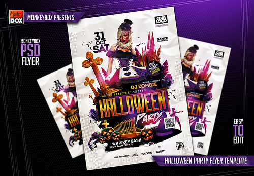 Halloween Party Flyer Template - a photo on Flickriver