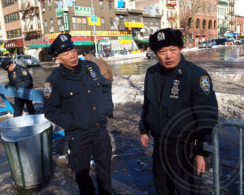 NYPD Auxiliary Police Officers, Chinatown, New York City - a photo