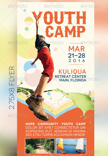 Youth Camp Mini Flyer Template - a photo on Flickriver