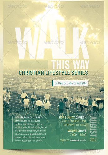 Walk This Way Church Flyer Template - a photo on Flickriver