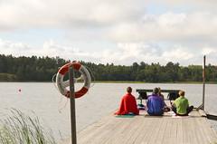 Morning yoga on the baltic