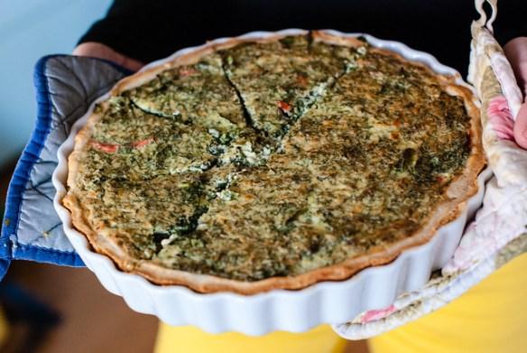 Asparagus & salmon pie