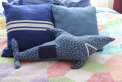 Shark tooth fairy pillow