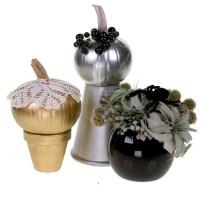 Gold and Silver Pumpkins — David Kesler, Floral Design Institute, Inc., in Portland, Ore.