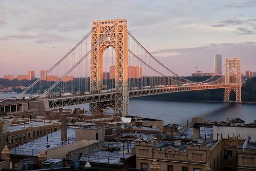Sunrise at George Washington Bridge