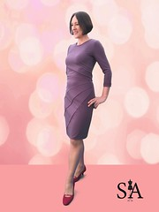 Sewing Purple Bodycon Dress