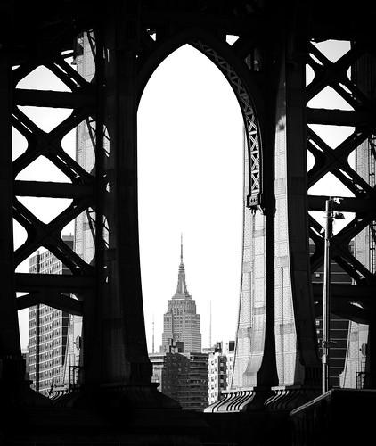 Empire State Building underneath the Manhattan Bridge