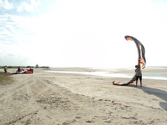 Jay with his kiteboarding kite 2