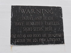 Peggys Cove- Warning Sign
