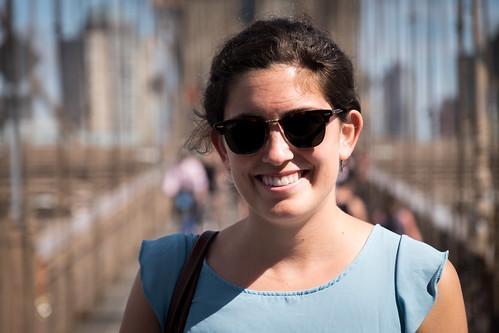 Alicia on the Brooklyn Bridge