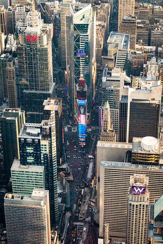 Times Square seen from the air