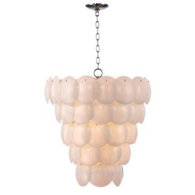 Lamps plus chandelier pendant glass petals