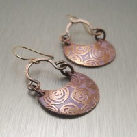 Handmade Etched Copper Earrings | Flickr - Photo Sharing!