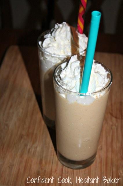 Bourbon Peach Milkshakes