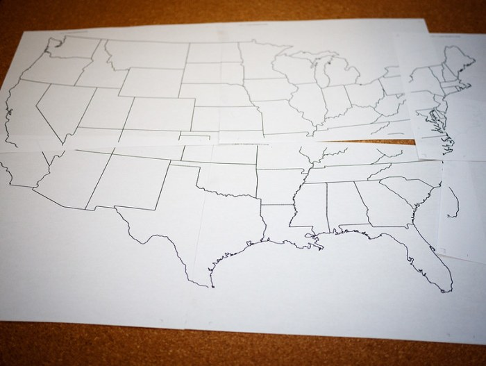 Travel Map Pin Board DIY 1