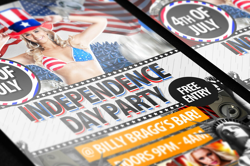 Independence-day-flyer-template-3 4th of July / Independen\u2026 Flickr