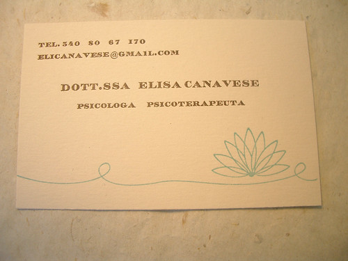 Pirouette Press Elisa\u0027s business cards  carta di visita