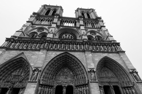 Outside Notre-Dame