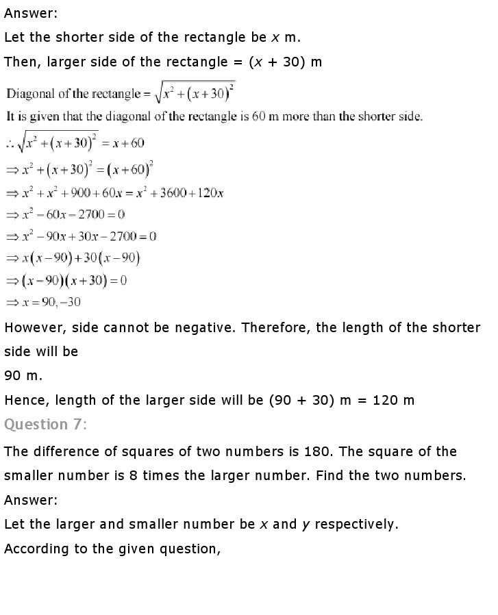 NCERT Solutions for Class 10th Maths: Chapter 4   Quadratic Equations Image by AglaSem