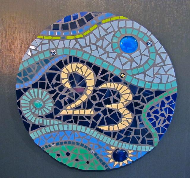 Davrah Mosaics Mosaic House Number Flickr Photo Sharing