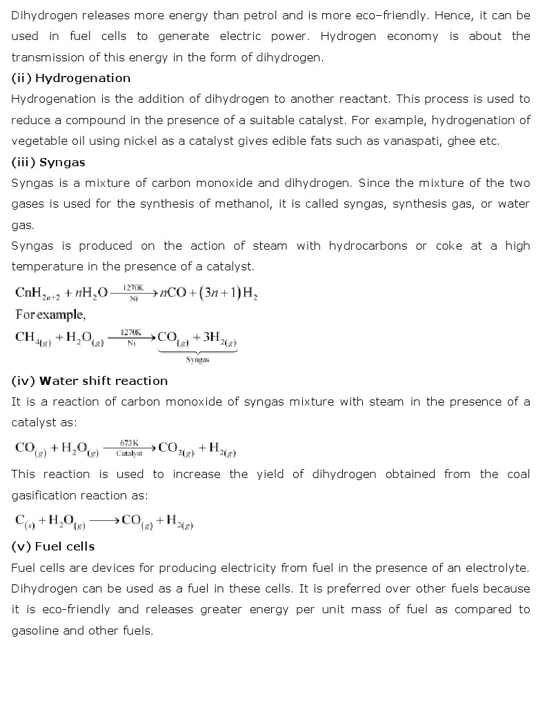 NCERT Solutions for Class 11th Chemistry: Chapter 9   Hydrogen
