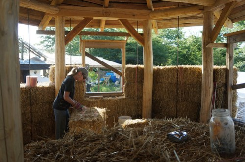Straw Bale House - Building Walls