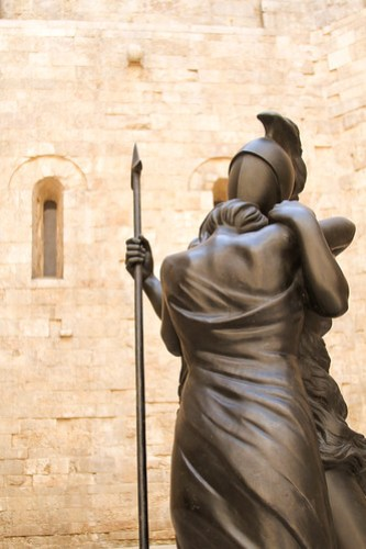 The embrace of Hector and Andromache, Castel del Monte