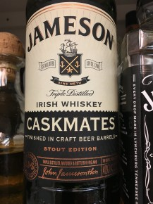 You know it's almost fall when we start laying in the Irish Whiskey for winter