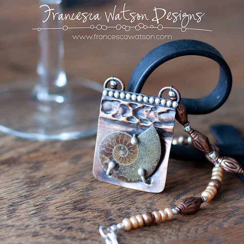 Ammonite Necklace by Francesca Watson Designs