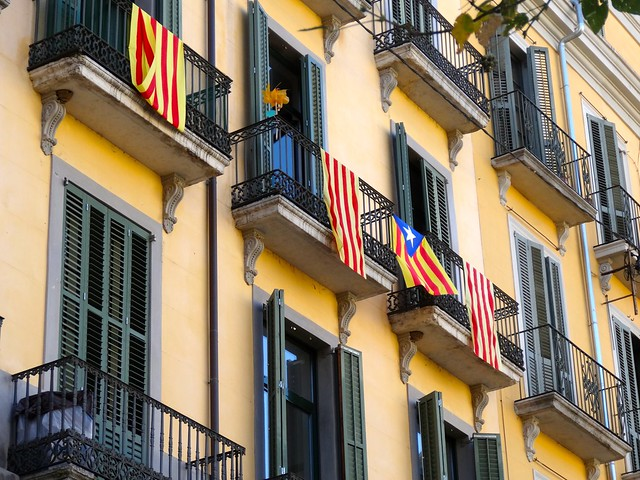 Balconies in Girona