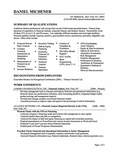 functional resume layout - Sample Of A Functional Resume