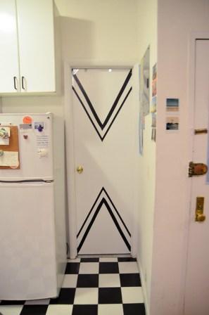 New York Apartment: Chevron Doors
