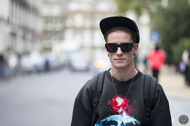 Balenciaga top, Davidelfin shorts, Acne sunnies and Supreme cap.
