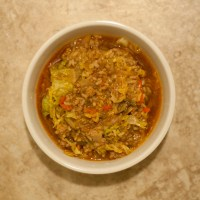 Curried Cabbage and Ground Pork