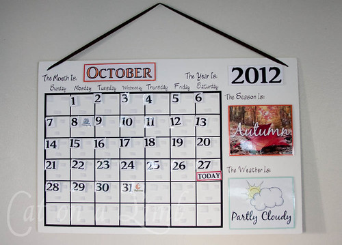Cat on a Limb Calendar for the Kids - Free Printables